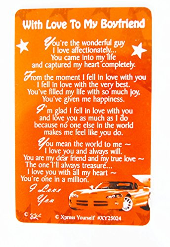 Boyfriend Keepsake Wallet Card Birthday Anniversary Him Mens Love Quotes Gift Buy Online In Brunei At Desertcart