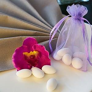 EinsSein Schokoherzen Pearl Mix 1kg weiß-Rosa Schokodragees Herzen Candybar Hochzeitsmandeln Griechische Herz
