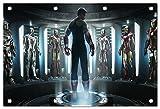 Marvel Helden Format: 150x100 cm Bild auf PVC-Plane/Banner, Hochwertiger XXL Kunstdruck als Wandbild inkl. Ösen!!
