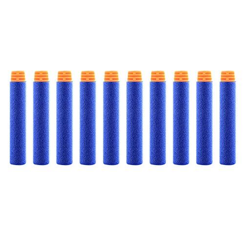 BOROK 10St. Schaumstoff Darts Pfeile Nachfüllpack Bullets Zubehör für Nerf Elite/Nerf Modulus/Nerf Rebelle/Nerf Zombie Strike