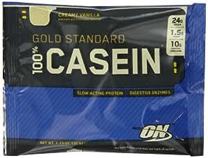Optimum Nutrition Gold Standard 100% Casein Protein Powder Drink Mix Creamy Vanilla (Pack of 24 Sachets)