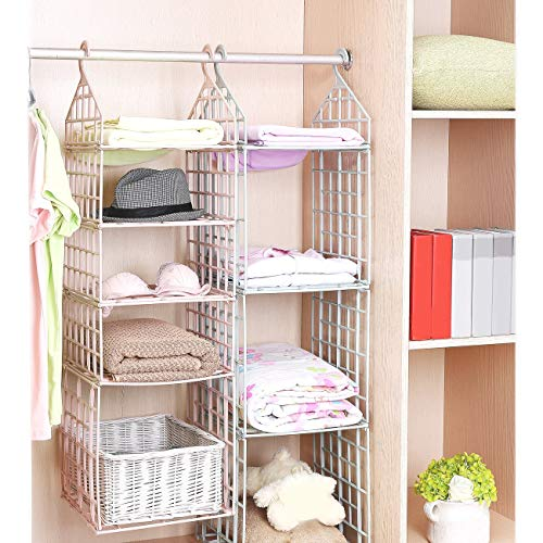 a79daa3bb 34% OFF on GETKO WITH DEVICE 5 Layer Folding Clothes Storage Racks  Dormitory Closet for