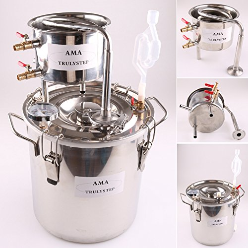 NEUF 12 L Litre Maison DIY Distillateur Distillation Thermomètre Acier Inox de...