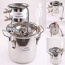 10-100L DIY CASA Alambique Destilador Destilación Still Enfriador Caldera Termómetro Vino Alcohol Agua Esencial