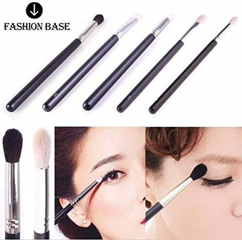 Fashion Base® 4 PCS Different Styles Goat Hair Professional Makeup Brushes Set Powder Foundation Eyeshadow Brushe Blending Brush Set (4pcs Goat Hair