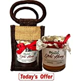 Farm Naturelle-Aesthetically Designed Jute Gift Bag With Pure Raw Natural Unheated Unprocessed Litchi Flower Honey...