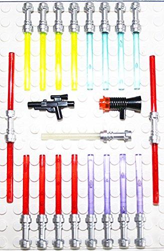 Lego Star Wars 21 Waffen für Figuren Laserschwerter Blaster TOP Waffenset 2010 Griff in der neuen Farbe