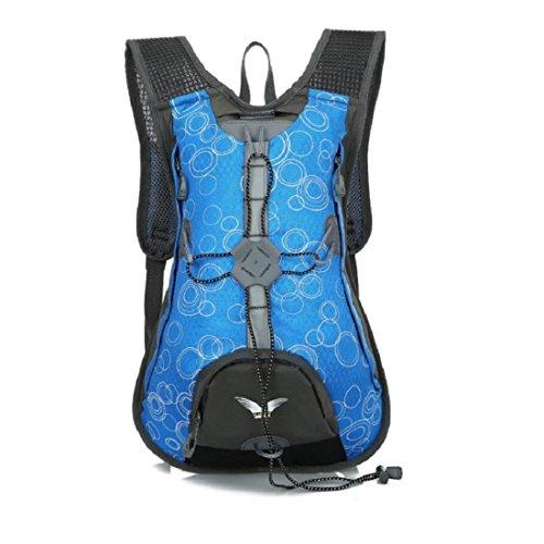 Z&N Backpack Leichte 15L KapazitäT Hochwertiges Nylon Fahrrad Mountainbike Reitrucksack MäNner Und Frauen Outdoor Sporttasche Bergsteigen Tasche Freizeit Rucksack E