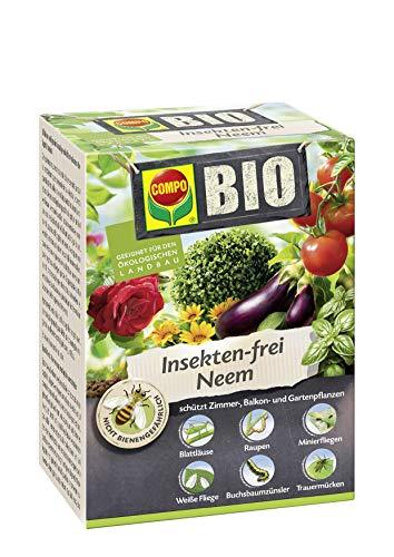 Compo Bio Insekten-Frei Neem, Bekämpfung von Schädlingen (u.a. Buchsbaumzünsler) an Zierpflanzen, Kartoffeln, Gemüse und Kräutern, 150 ml, 600m²