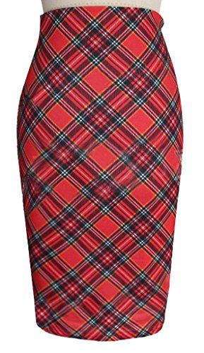Eyekepper Jupe Femme /demoiselle Slim Sexy avec un melange de polyester et coton Rouge