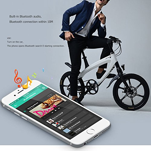 51sDbU229uL. SS500  - GTYW Electric Bicycle Mountain Bicycle City Fashion Simple Moped Removable Lithium Smart -Built-in Bluetooth Stereo Mountain Bike