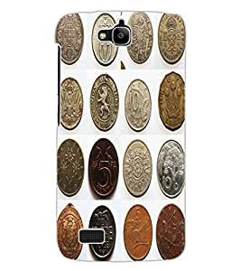 ColourCraft Antique Coins Design Back Case Cover for HUAWEI HONOR HOLLY