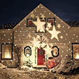 E-Bestar LED Projektor Strahler Weihnachten mit Beweglichen Sterne Muster Gartenbeleuchtung für Halloween Hochzeit Party Karnavel Show,warmweiß