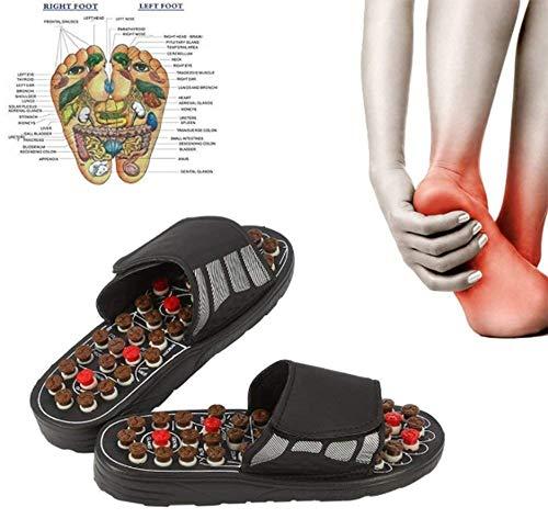 Fußreflexzonenmassage Manuelle (Hyxxd Fußmassage Hausschuhe 82 Akupunktmassagepunkte Magnetfeldtherapie Fußreflexzonenmassage Fußgesundheitsfunktion Einlegesohlenausrüstung für Männer und Frauen (Farbe : Braun, größe : 40 EU))