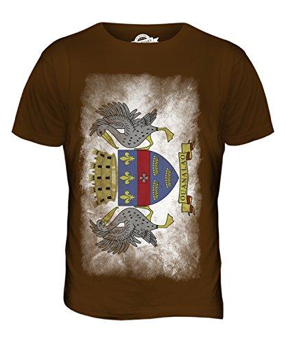 CandyMix Saint-Barthélemy Verblichen Flagge Herren T Shirt Braun