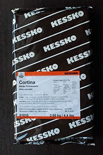 Weiße Schokoladen-Kuvertüre 2 kg Cortina Block von Kessko