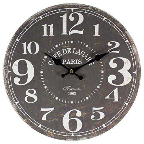 perla pd design Wanduhr Kinderuhr Vintage Design Cafe de Lagare ca. Ø 28 cm