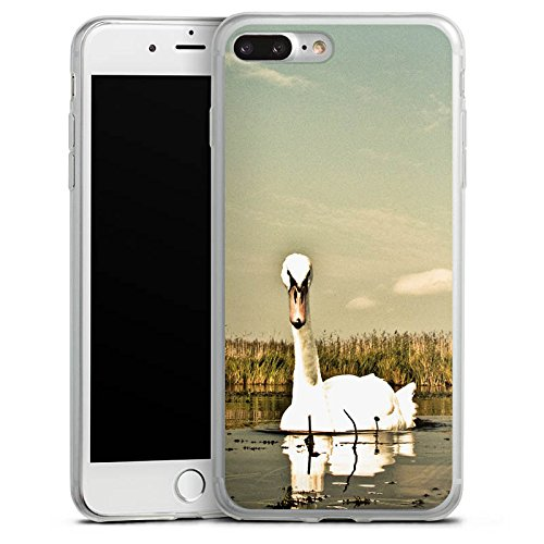 Apple iPhone 8 Slim Case Silikon Hülle Schutzhülle Schwan Vogel Gans Silikon Slim Case transparent