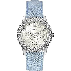 Guess Women's Quartz Watch W0336L7 with Leather Strap