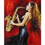 Künstler Pure handgefertigt Eindruck Elegante Tango Flamenco Hitze Dancing Spanische Frau Tänzerin Ölgemälde auf Leinwand Beautiful Wall Kunst für Wohnzimmer auf Leinwand Fine Abstrakte, canvas, 24x36inch(60x90cm)