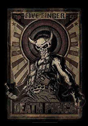 empireposter 5 Finger Death Punch - Mercenary - Posterflagge 100% Polyester - 75x110 cm - 110 Punch