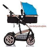 Baby trolley Kinderwagen-Reisesystem 2-in-1-Kinderwagen Kinderwagen rückwärts oder vorne Regenhülle Moskitonetz faltbar - mit Ablage