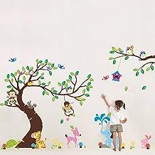 2016nuevo Animal Jirafa BúHo ÁRbol Pegatinas de pared decoración del hogar papel pintado salón sofá pared vinilo pegatinas para niños habitaciones decoración del hogar
