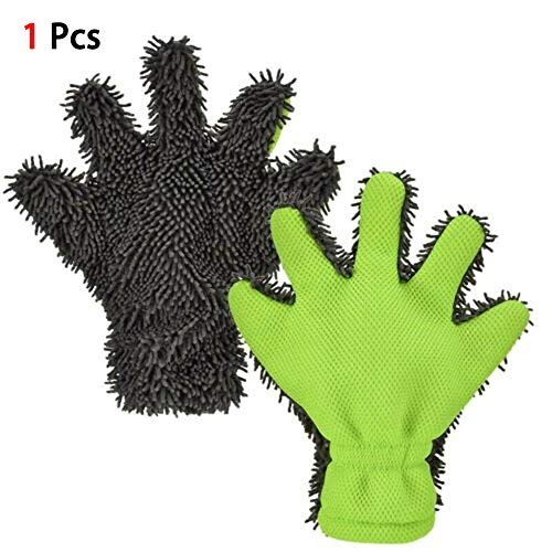 Scelet Chenille Autowaschhandschuhe Fünf Finger Feines Haar Reinigung Staubhandschuhe Mikrofaser Autopflege - Haare Finger