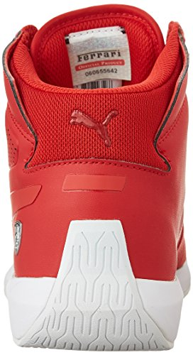 Puma Podio TD Mid SF Synthétique Baskets Rosso Corsa-White