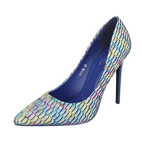 Blau Multi Scarpe 52 5015 Donna Piattaforma design Ital fPqHIq