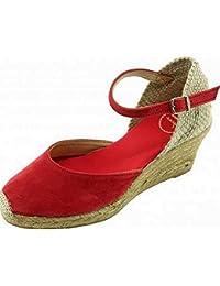 ae7877cf739 TONI PONS Lloret-5 Espadrille Compensée Bride Cheville Marque Chaussures  Femme Petite Pointure Tailles Cuir