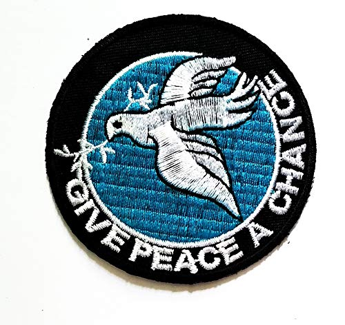 2c0d24004e253 Give Peace A Chance White Dove Flying with Olive Hope Love Peace Symbol  Patch Vest/