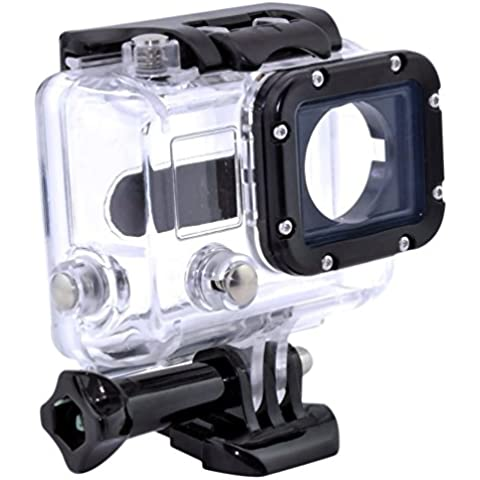 Mochalight PX-340 - Funda impermeable rígida para cámara GoPro Hero 3, 13 x 8 x 5 cm, 0,13 kg, color transparente y negro