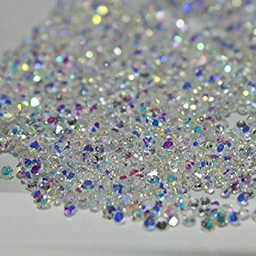 2880Pcs Mini Diamond Shining DIY Rhinestones Crystal Flat Back Rhinestones Need Glue Phone Nail Art Decoration Clear AB