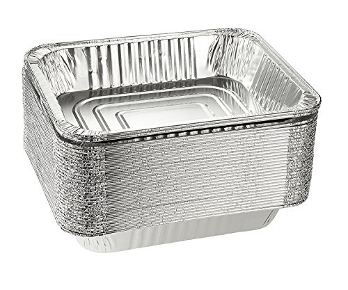 fannen für Backen, Rösten, broiling, Kochen, Aufbewahrung Aluminium Folie Dampf Tisch Pfannen, halbe Größe Tief, 9x 13Pfannen 30Stück ()