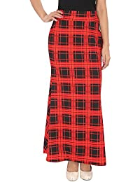 FRANCLO Women's Fish cut style check skirt (30-36 Waist)