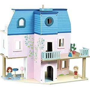 Vilac-Ma Casa de muñecas, 6316, Azul y Rosa, 50x 45x 13cm
