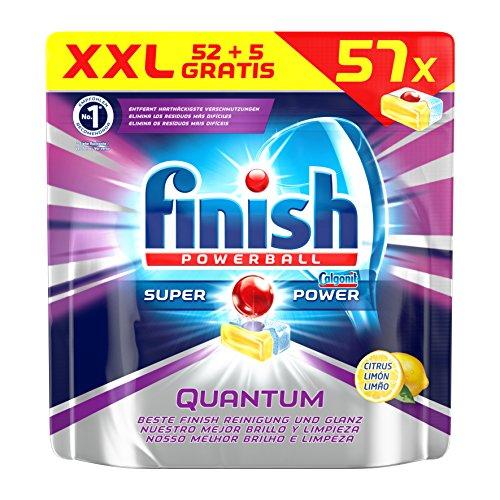 Finish Quantum Citrus, Spülmaschinentabs, Vorratspack, 57 Tabs (52 + 5 Stück gratis)
