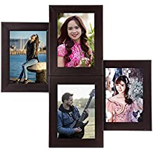 WENS 4-Picture MDF Photo Frame (20 inch x 16 inch, Black, WS-4013)