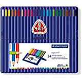 Staedtler Ergosoft 157 SB24 Triangular Colouring Pencils - Assorted Colours, Pack of 24