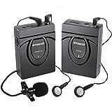 Polaroid 2,4 GHz drahtloses Mikrofonsystem für SLR-Kameras und Camcorder, einschließlich Handmikrofon mit Clip und Kopfhörern