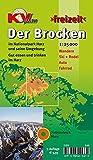 Brocken / Nationalpark Harz: 1:25.000 Freizeitkarte mit Wanderwegen, Wintersportmöglichkeiten und Informationsteil zum Nationalpark (KVplan Harz-Region)