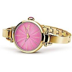 HOOPS Uhren B Jolie Gold Damen Uhrzeit IP Rosa - 2517lgs-06