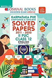 Oswaal Karnataka PUE Solved Papers II PUC English Book Chapterwise & Topicwise (For 2021 E