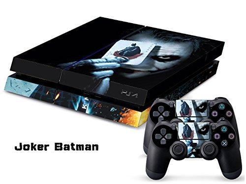 Preisvergleich Produktbild Playstation 4 + 2 Controller Aufkleber Schutzfolie Set - Joker (2)
