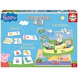 Peppa Pig - Superpack con juegos de mesa (Educa Borrás 16229)