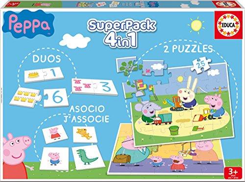 Educa–Zuhause–Peppa Pig Klassische Puzzle–Superpack
