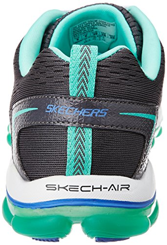 Skechers Skech-Air 2.0 Aim High, Multisports outdoor Femme Gris (Charcoal/Turquoise)