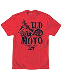 Troy Lee Designs Tld Moto Htr Red Youth Tee Shirts Enfant
