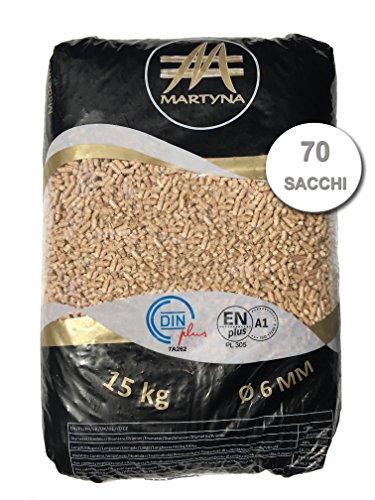 Pellet Martyna di 100% conifera sacchi da 15 kg certificato EN-PLUS A1